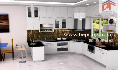 Mẫu thiết kế nội thất tủ bếp đẹp TB228