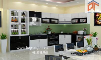 Thiết kế nội thất tủ bếp nhà cô BẠCH - GV