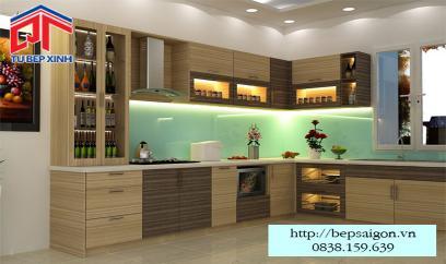Tủ bếp gỗ MFC chống ẩm vượt trội BT07