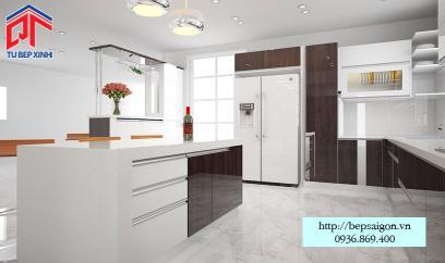 tủ bếp hiện đại nhà chị Dương - Tiền Giang