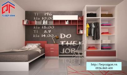 Thiết kế phòng ngủ đơn giản cho con trai - PN02