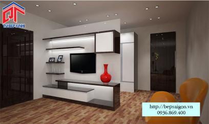Thiết kế kệ tivi sang trọng - TTN07