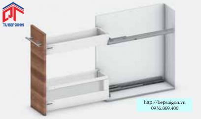 Ray hộp TANDEMBOX cho tủ hẹp chiều dài 200mm - 555.90.795