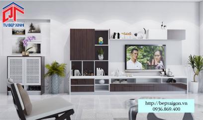Thiết kế kệ tivi sang trọng - TTN08