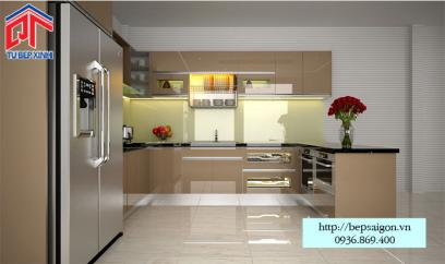Thi công tủ bếp Acrylic tại Cần Thơ - MTB33