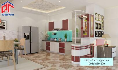 Thi công tủ bếp tại Long khánh - MTB37
