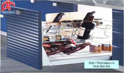Kệ hai tầng chai lọ inox 304 tủ 200mm - MSP: 305003
