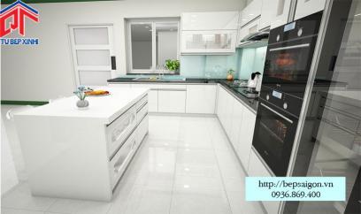 Thi công tủ bếp Acrylic tại Long Khánh - MTB42