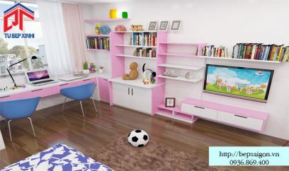 Thiết kế phòng ngủ bé gái sinh động và dễ thương