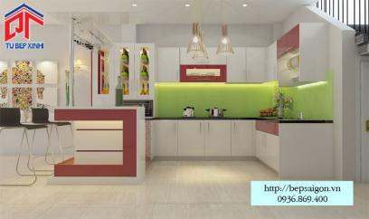 Thi công tủ bếp Acrylic tại Phan Thiết - MTB43