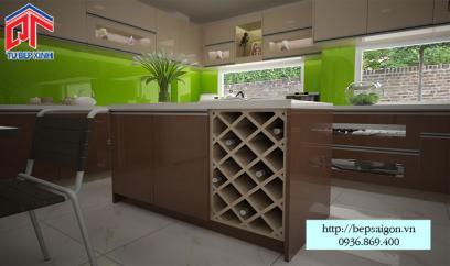 Thi công tủ bếp Acrylic tại Vĩnh Long - MTB45