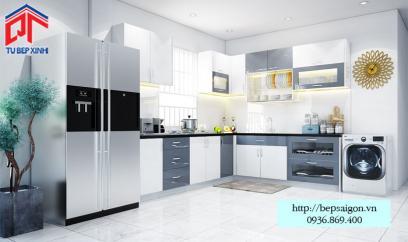 Thi công tủ bếp Acrylic tại Cần Thơ - MTB46