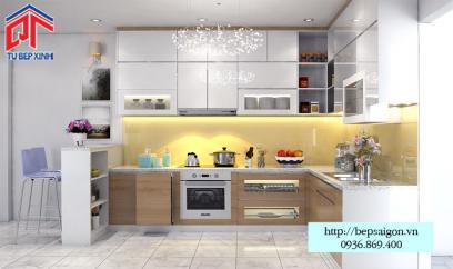 Thi công tủ bếp Acrylic tại Gia Lai - MTB47