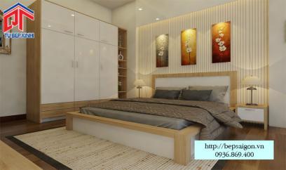 Thiết kế nội thất phòng ngủ nhà anh Thành ở Quận Tân Phú
