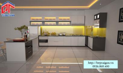 Thi công tủ bếp Acrylic tại Bình Thạnh - MTB48