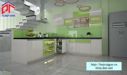 Thi công tủ bếp Acrylic hiện đại - MTB50