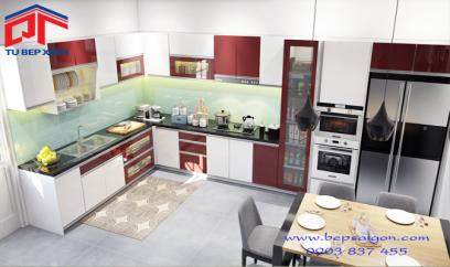 tủ bếp acrylic tb009