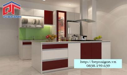 Tủ bếp chữ I đơn giản và tiện nghi BT12