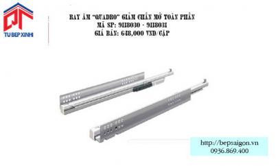 """Ray âm """"QUADRO"""" giảm chấn mở toàn phần - MSP: 9118030 - 9118031"""